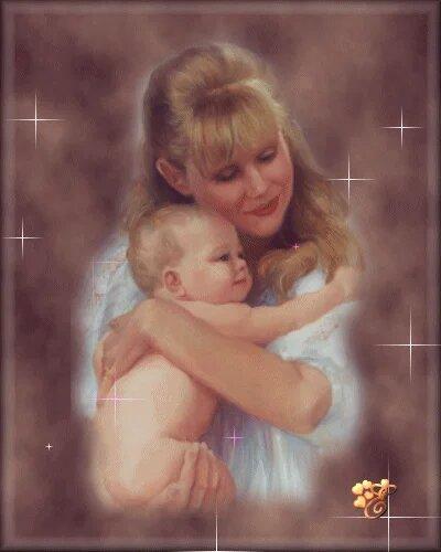 С Днем матери! Материнская любовь открытка поздравление картинка
