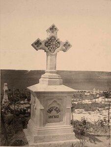Крест на одной из братских могил на Братском кладбище павших воинов, защищавших Севастополь в 1854-55 гг.