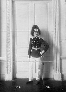 Обер-офицер батальона в форме образца 1873 года.