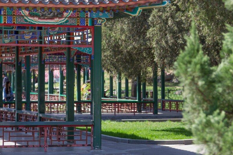 Галереи, парк Чжуншань гунъюань, Пекин