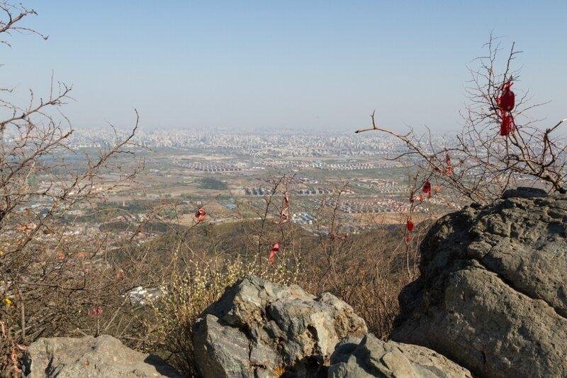 Панорама Пекина с пика Сянлу, парк Сяншань, Пекин