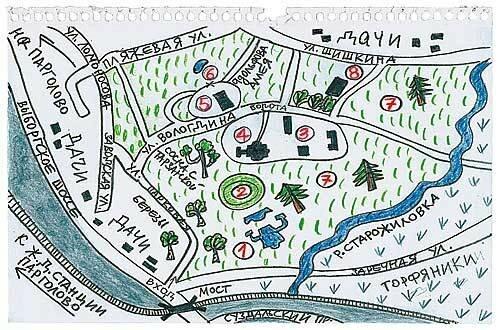 (Парк на карте для спортивного