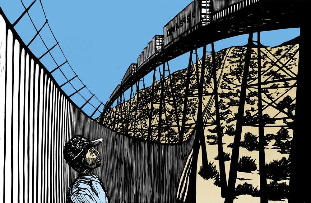 В то время как капиталы и товары легко пересекают границы, для многих людей это считается незаконным (Pete Yahnke Railand)