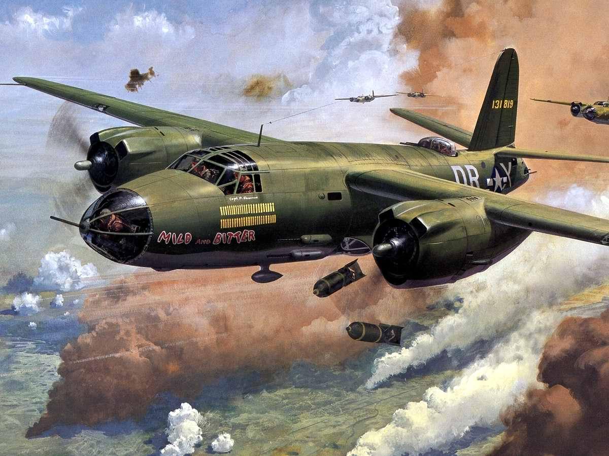 Американский средний бомбардировщик Martin B-26 Marauder