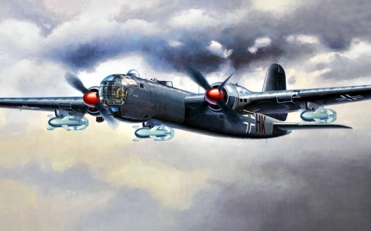 Немецкий тяжелый бомбардировщик Heinkel He 177