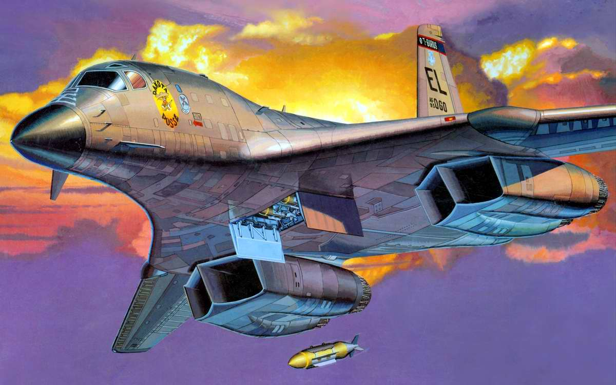 Американский сверхзвуковой стратегический бомбардировщик B-1b Lancer