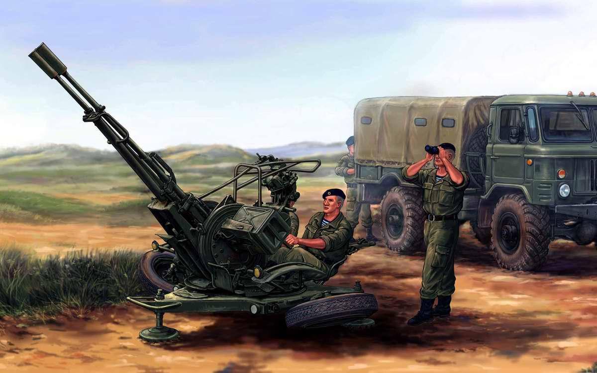 Советская спаренная зенитная установка ЗУ-23