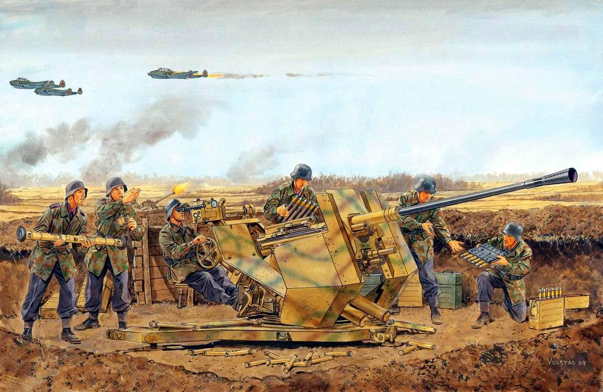 Немецкое зенитное орудие FlaK 37 (Ron Volstad)