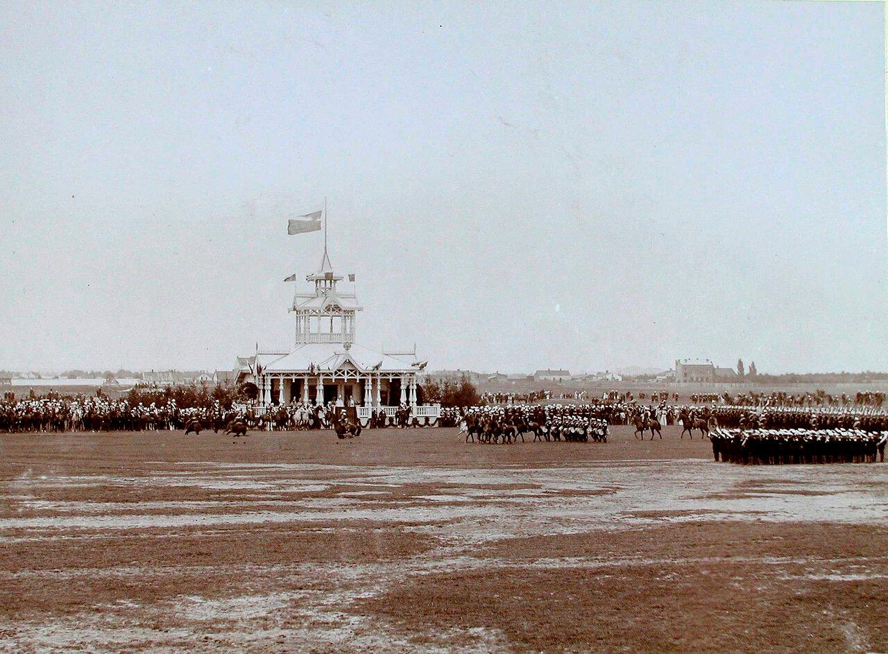 08. Военные части во время высочайшего смотра крепостных войск на Мокотовском поле