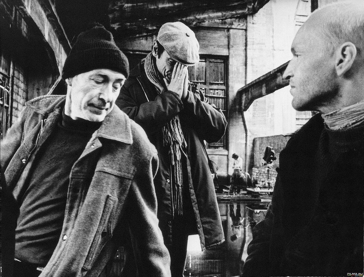 1979. Александр Кайдановский, Николай Гринько, Андрей Тарковский на съемках «Сталкера»