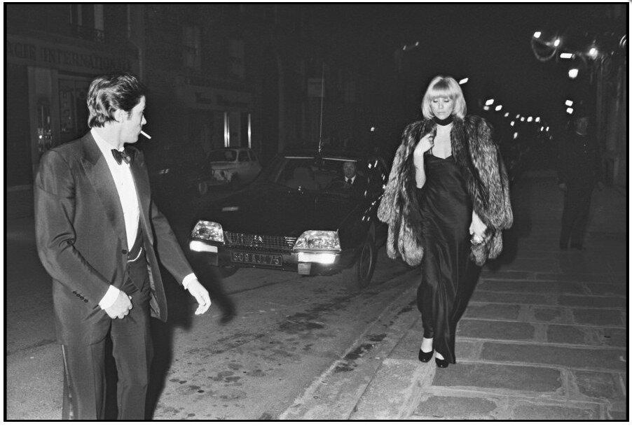 Alain Delon and Mireille Darc