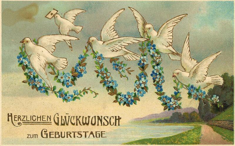 Немецкие открытки с поздравлением, николая