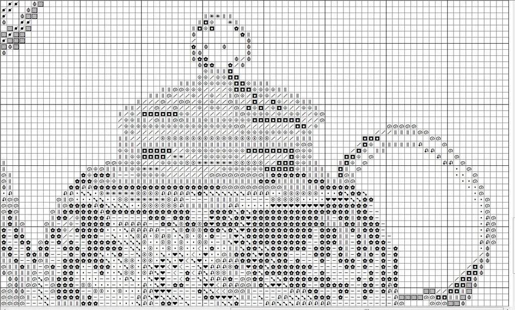 Вышивка крестом схема чайная фантазия