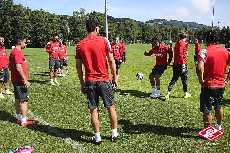 Восстановительная тренировка «Спартака» в Швейцарии