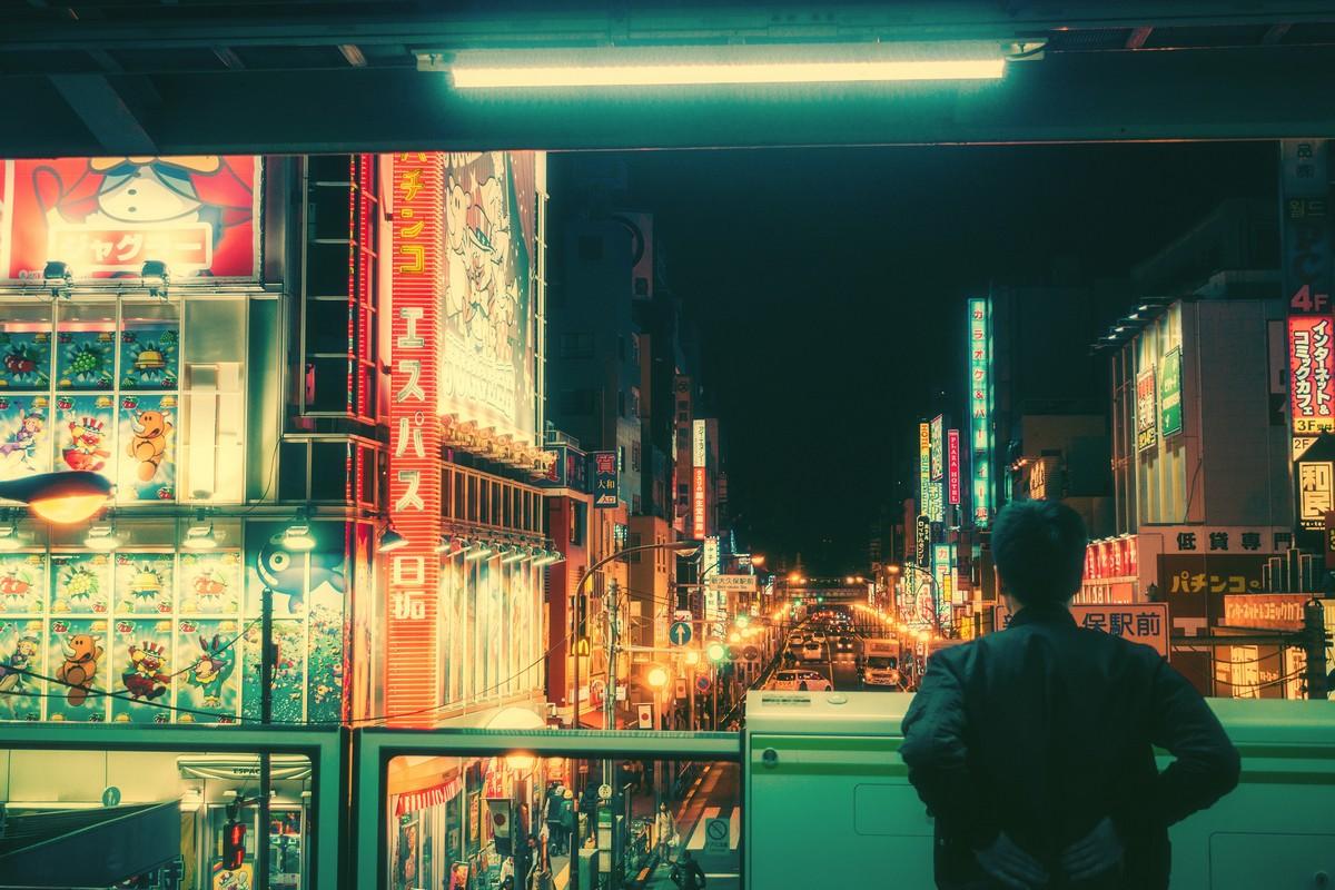 Замечательные фотографии ночного Токио