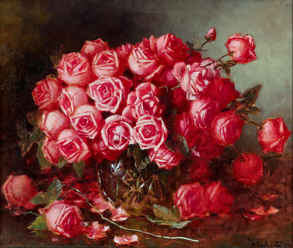 YULI KLEVER (THE YOUNGER) (1882–1942) - Still Life with Roses