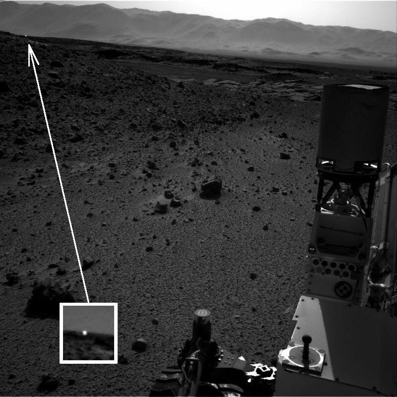 Аномальное свечение на Марсе, Sol-588
