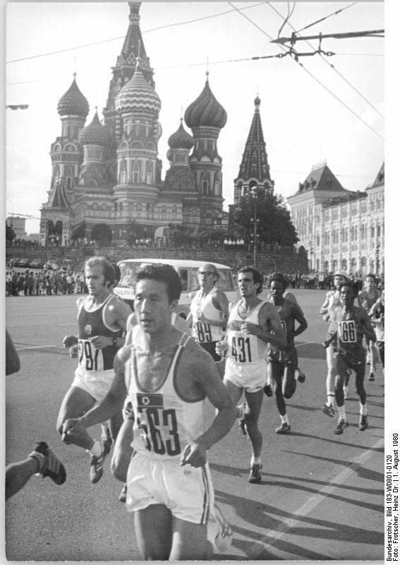 Moskau, XXII. Olympiade, Marathon, Cierpinski, Chun Son Kon,