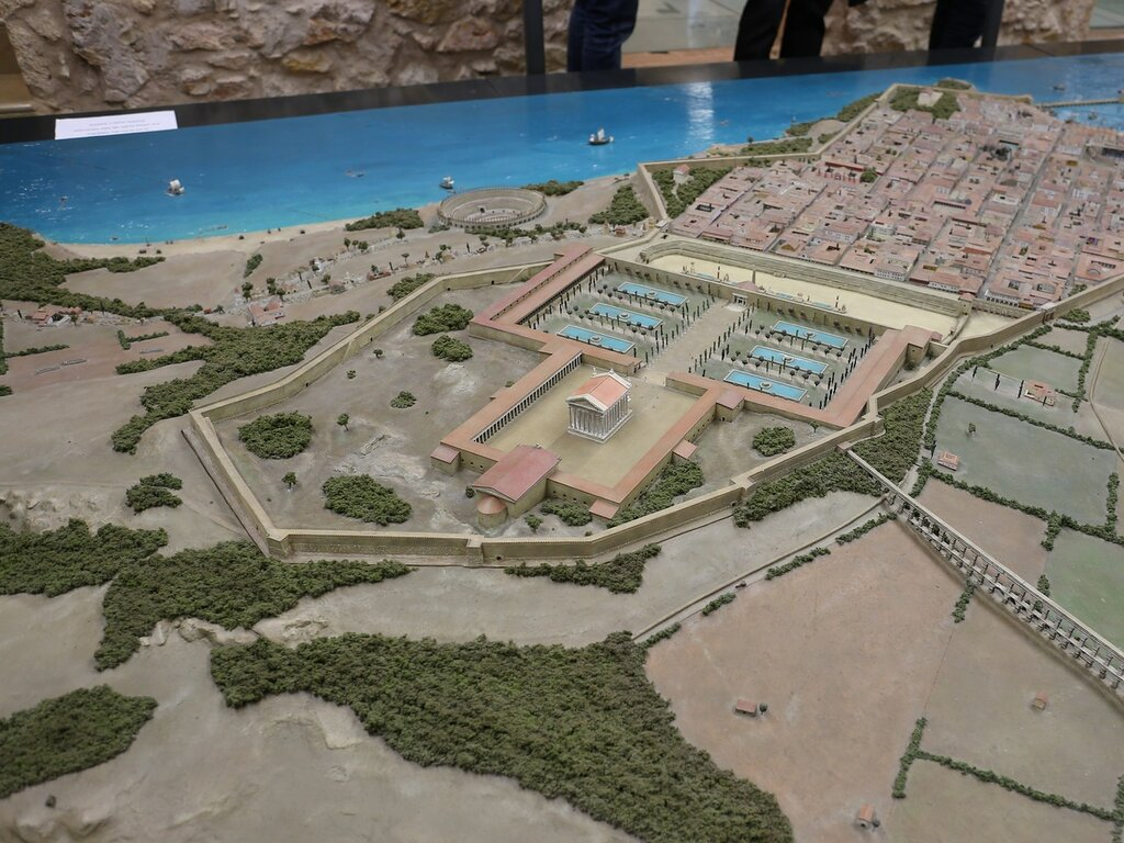 Tarragona. Tarraco layout. Таррагона. Макет Таррако