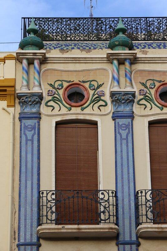 Castellon de la Plana, Plaza de la Independencia, Casa de las Cigüeñas. The House Of Storks. Castellon de La Plana, Independence Square