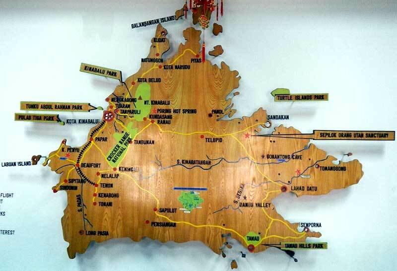 Карта Сабаха