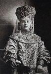 Н.Д.Вонлярлярская в костюме боярыни начала XVII века. Портрет.