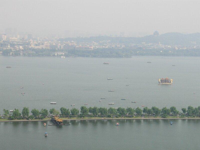 Озеро Сиху и дамба Байди, пагода на горе У, Ханчжоу
