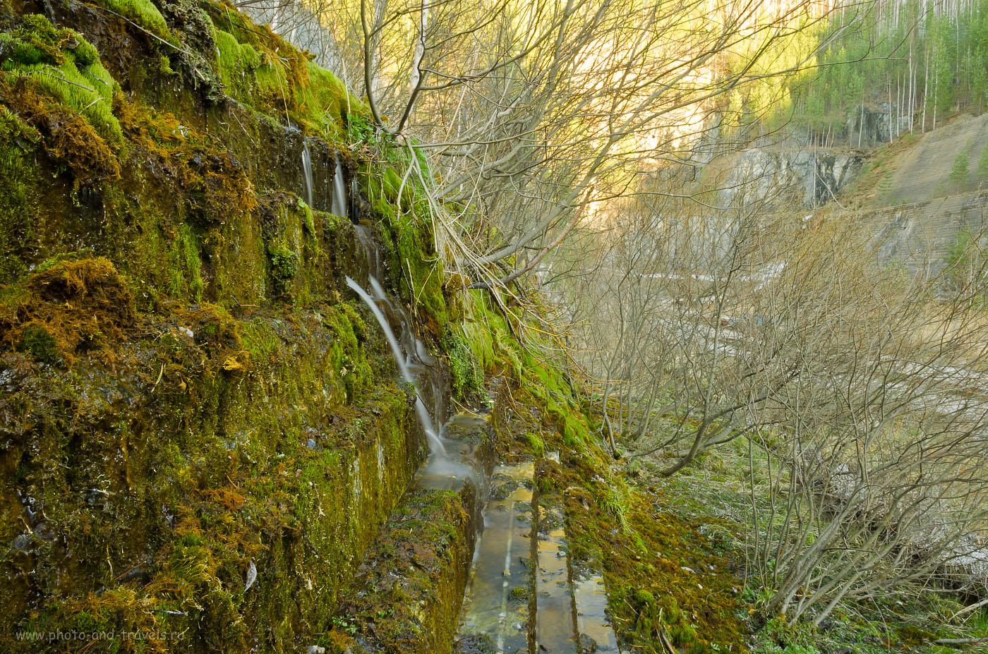 18. Водопад на стенах каменоломни Старая линза.