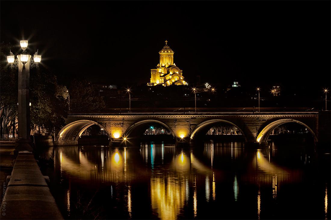 фото ночного Тбилиси