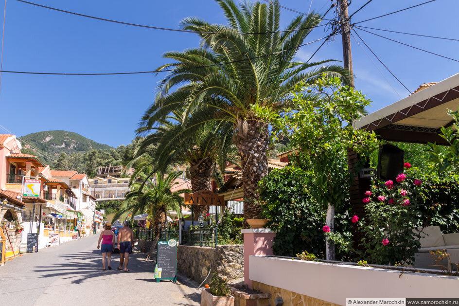Улица в посёлке Агиос Гордиос, Корфу, Греция