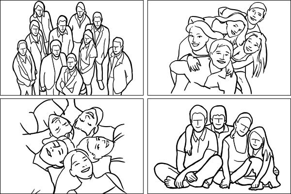 Позы для группового портрета