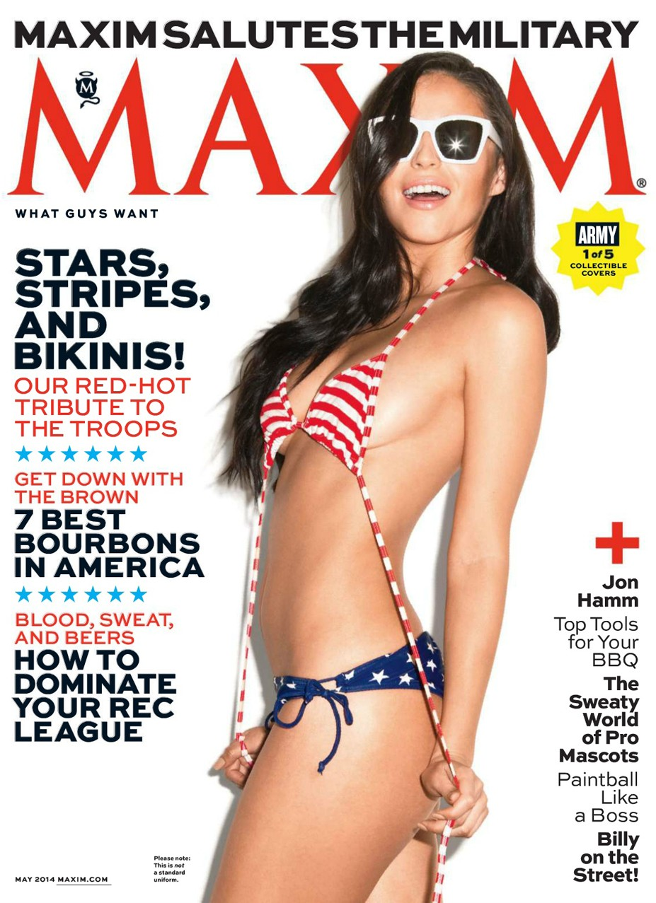 Mayra Tinajero / Patriotic pin-ups in Maxim US may 2014 by Marley Kate