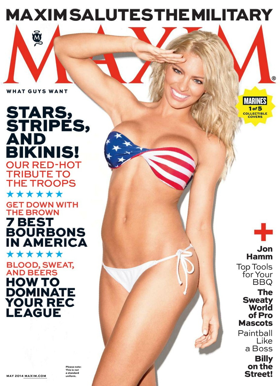 Shannon Ihrke / Patriotic pin-ups in Maxim US may 2014 by Marley Kate