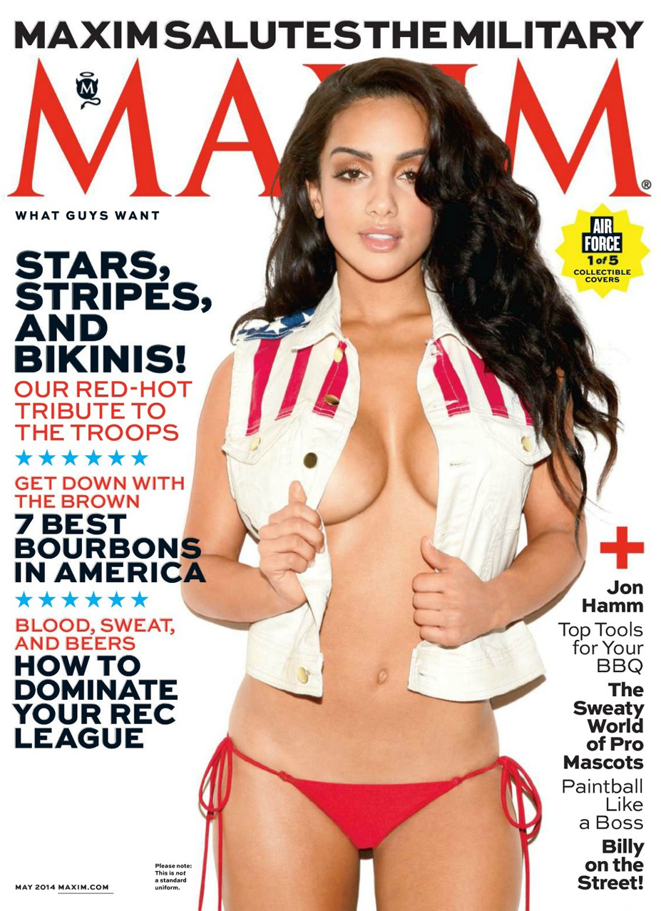 Brittney Alger / Patriotic pin-ups in Maxim US may 2014 by Marley Kate