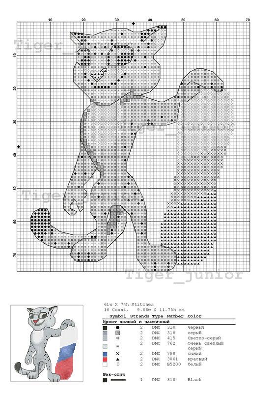 Олимпийский мишка бисер схема