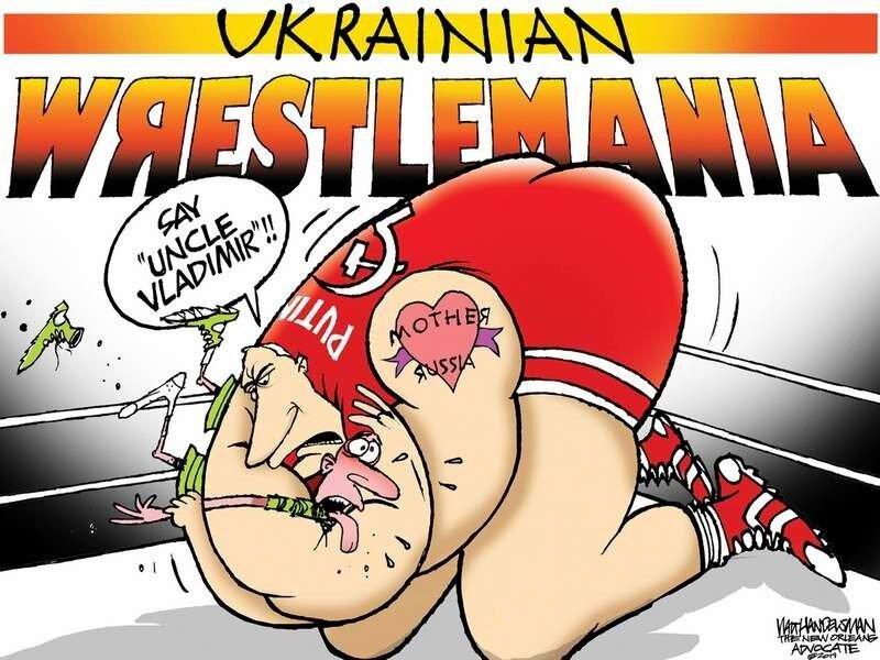 Истязаемая Украина: Пощади меня, дядя Вова (Walt Handelsman)