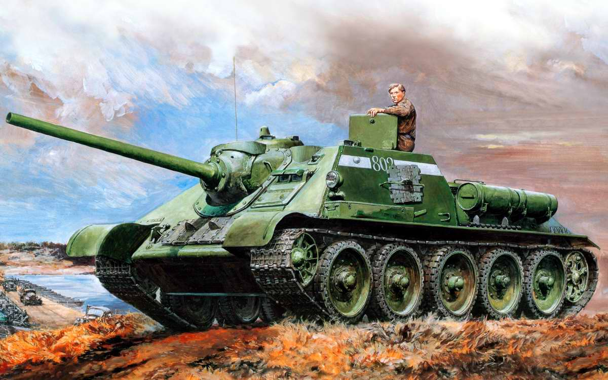 Советская самоходно-артиллерийская установка СУ-85