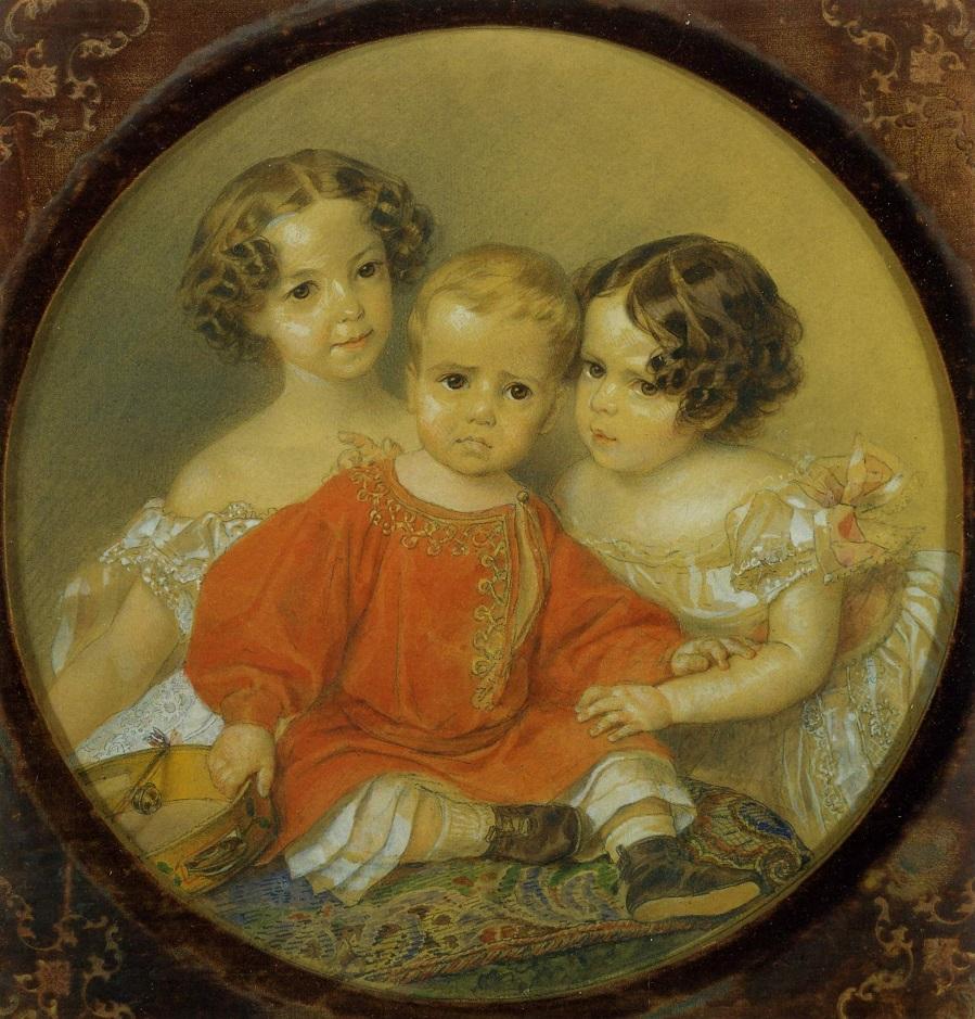 Групповой портрет детей князей Волконских Киевский национальный музей русского искусства, Украина