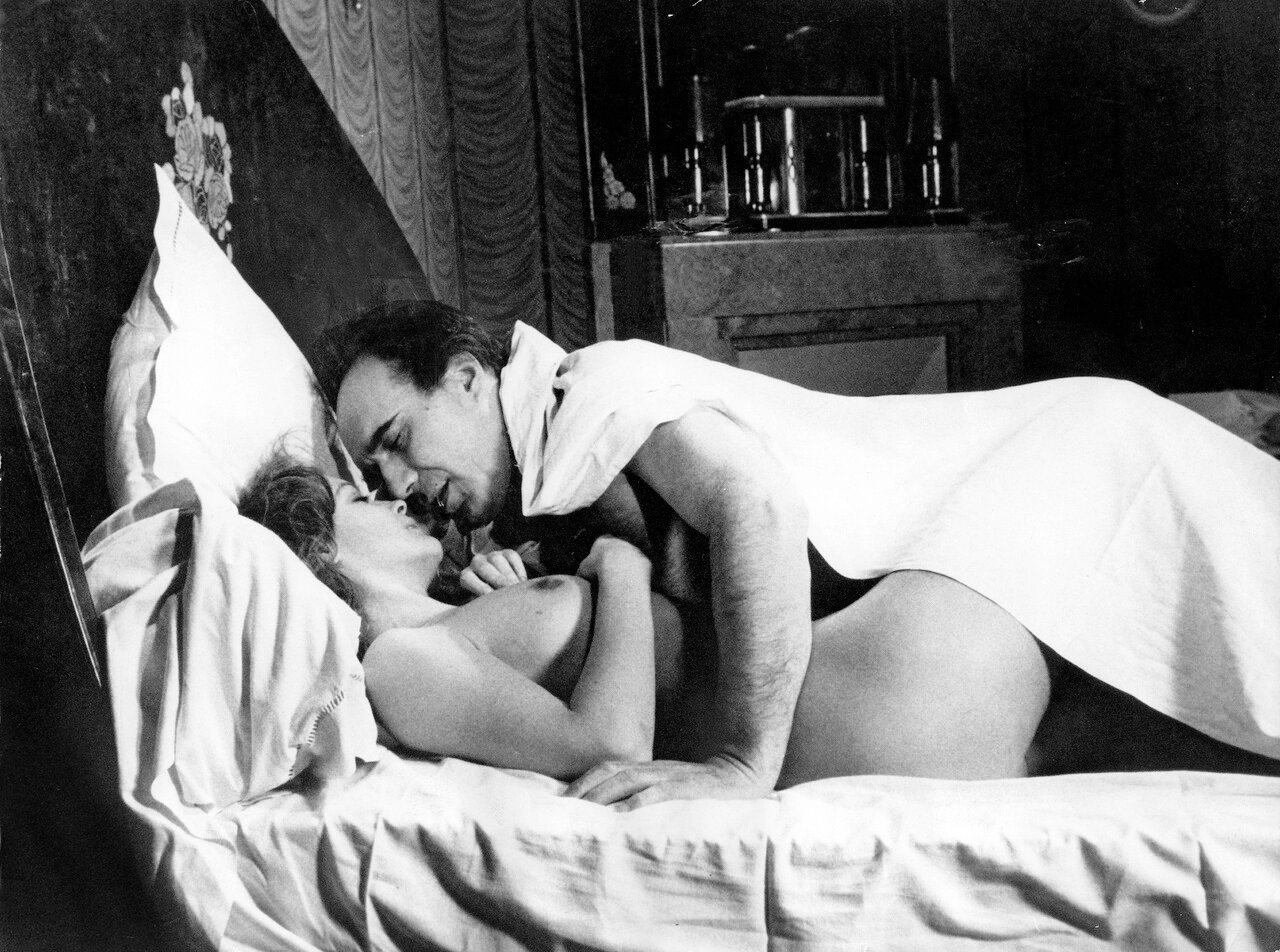 Romy SCHNEIDER und Michel PICCOLI in 'Le Trio Infernal', 1974