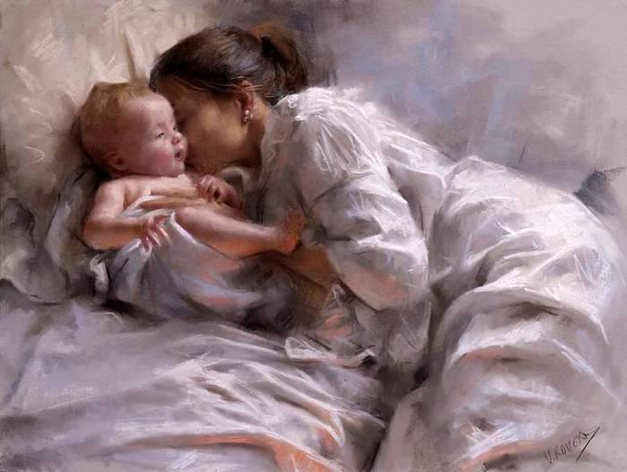 Vicente Romero Redondo Обнимайте малышей под любым предлогом! Пора детства в живописи
