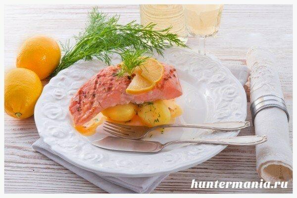 Форель с картофелем на пару в мультиварке (рецепт)