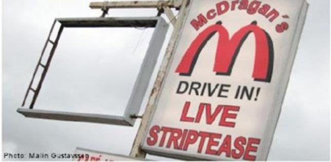 Фотографии фальшивых Макдональдсов в разных странах