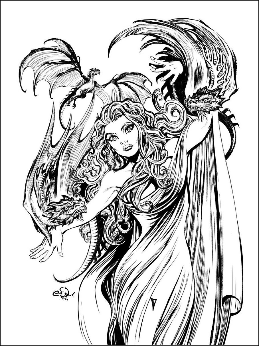 game of thrones coloring pages khaleesi - photo #27