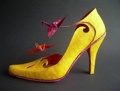 Бумажные туфельки