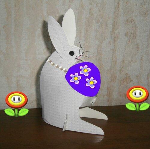 Пасхальный заяц из картона
