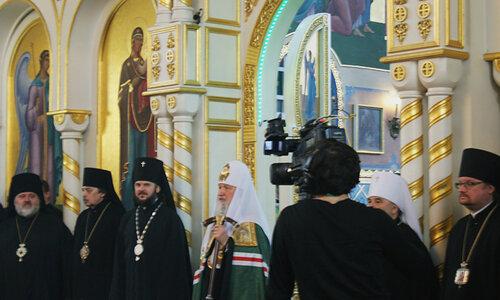 Святейший Патриарх Кирилл в Покровском соборе
