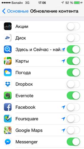 оптимизация iphone