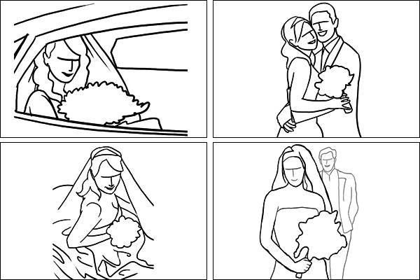 Позы для свадебных портретов