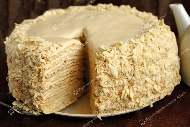 Наполеон на сметане торт рецепт с заварным кремом самый вкусный