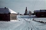 1942-01-01 Дома и церкви Kuosmajrvelt (Kosmojrvi). В марте 1942 года. Место: Kosmojrvi